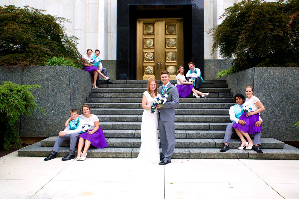 We also display lots of killer wedding images like this one throughout the site.