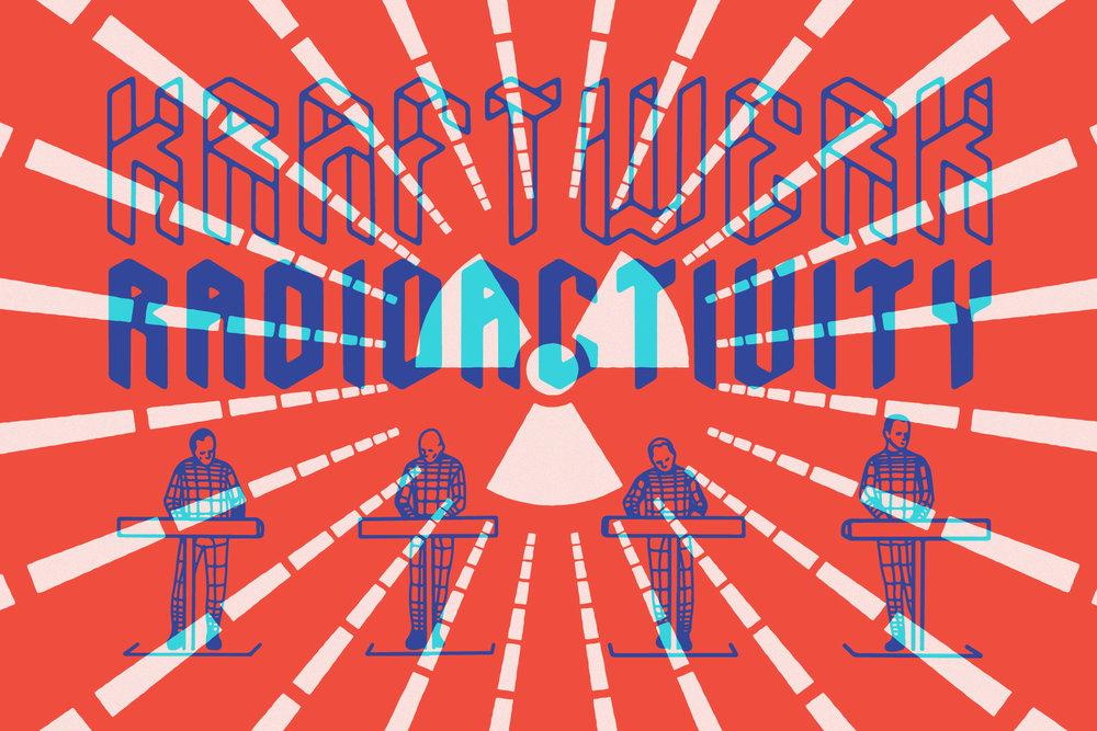 Kraftwerk poster featuring   KrautrockV2 font