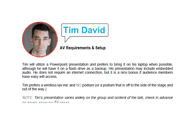 A/V Requirements