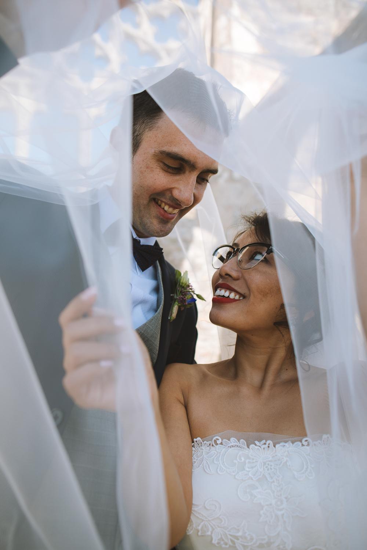 Séance portrait des mariés