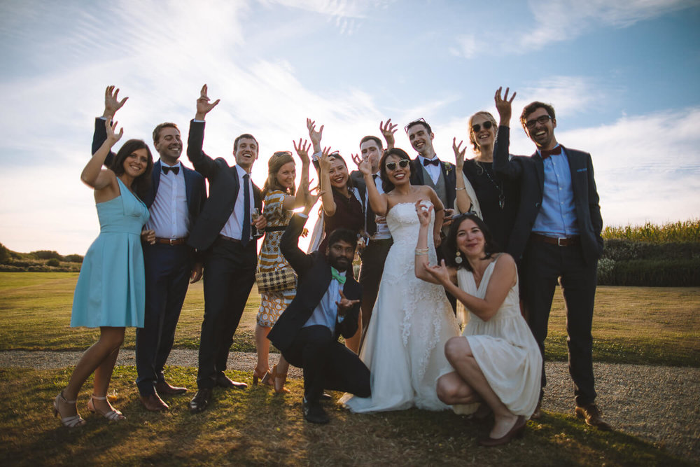 Famille et amis lors du mariage