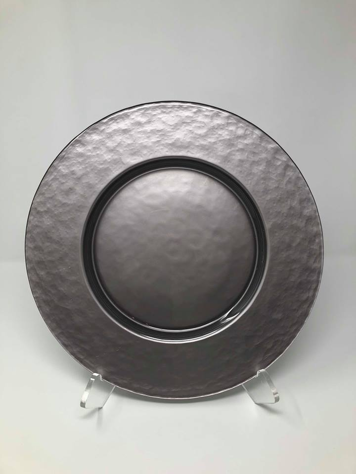 HAMMERED PEWTER GLASS CHARGER - $5/EA
