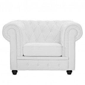 White Leather Chesterfield Chair - $175