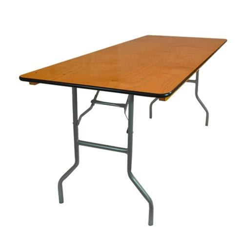 """Rectangle Banquet Table - 30"""" x 4' (Cap. 4-6): $830"""" x 6' (Cap. 6-8): $930"""" x 8' (Cap. 8-10): $948"""" x 6' (Cap. 6-10): $1748"""" x 8' (Cap. 10-12): $36"""