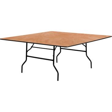 "Square Banquet Table - 72"" x 72"" (Cap. 8-12): $17.50"
