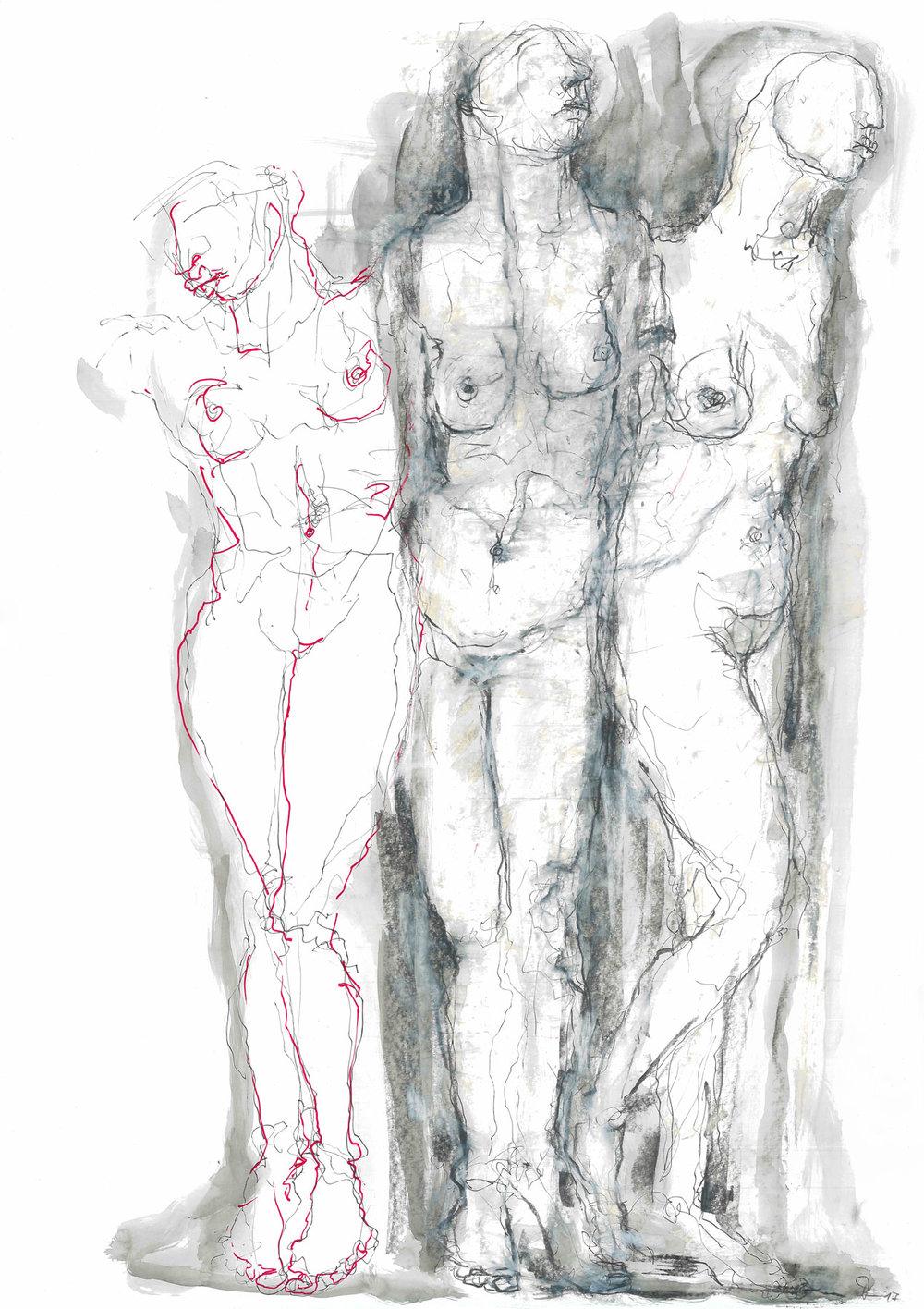 """""""Venus"""" 59,4 x 42 cm Mischtechnik auf Papier 2017"""