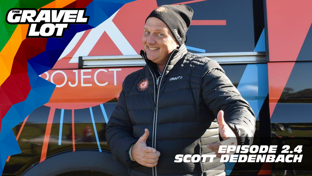 """Episode 56: Scott Dedenbach joins us this week with the untold story behind his podcasting fame. We also discuss what dialysis, elite athletes, and Formula One have in common.   Be Free Ride Bikes: Gravel Lot pre-orders are OPEN. Use code """"PEBBLES"""" at checkout for a 20% savings on TGL apparel.    RoadID: Use discount code """"PEBBLES"""" at checkout for $10 off ANY order over $20.    Handup Gloves: Use code """"PEBBLE$"""" for 20% off EVERYTHING in store.    Noxgear: Use code """"PEBBLES"""" for 35% off any item.    Magas Law Firm:   Subscribe to The Gravel Lot on the  Wide Angle Podium Network and become a member TODAY!"""