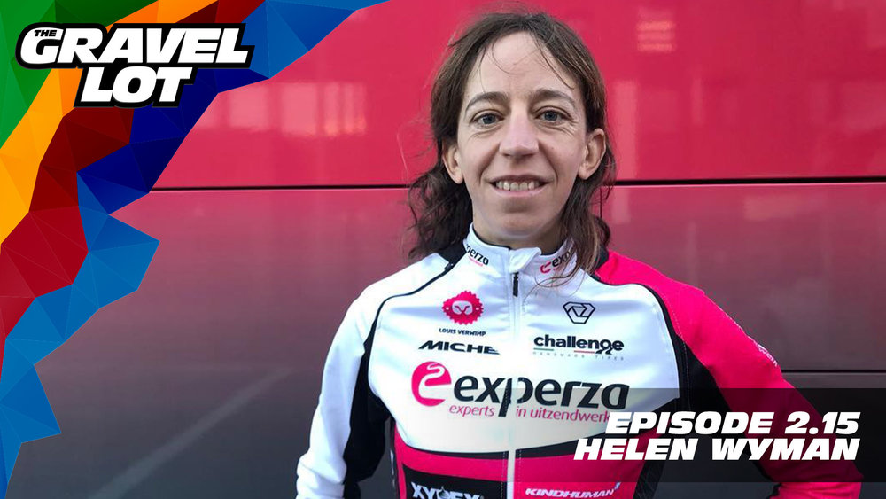 "Episode 67: Helen Wyman joins us this week to discuss growing up in a cycling family, how bikes have continuously given back to her, and how she plans to spend the rest of her life trying to provide opportunities in cycling for everyone.   DONATE NOW    TGL Spring Fondo Event    Visit The Gravel Lot website for our latest podcast, Real Talk videos, Bonus Content, shop, social media, and everything in between.    Red Kite Ronde Registration    Save 50% on your next RoadID:    Handup Gloves: Use code ""PEBBLES"" for 20% off EVERYTHING in store.    Be Free Ride Bikes:    Noxgear: Use code ""PEBBLES"" for 35% off any item.    Magas Law Firm:   Subscribe to The Gravel Lot on the  Wide Angle Podium Network and become a member TODAY!"