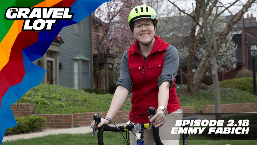 """Episode 70: Emmy Fabich may currently be the Program Director for Bike Miami Valley, but she has a long history of selflessness and has been an instrumental part of turning Dayton into a hidden outdoor recreation gem over the last decade.   Visit The Gravel Lot website for our latest podcast, Real Talk videos, Bonus Content, shop, social media, and everything in between.    Red Kite Ronde Registration    Handup Gloves: Use code """"PEBBLE$"""" for 20% off EVERYTHING in store.    Be Free Ride Bikes:    RoadID: Save $10 off ANY order over $20.    Noxgear: Use code """"PEBBLES"""" for 35% off any item.    Magas Law Firm:   Subscribe to The Gravel Lot on the  Wide Angle Podium Network and become a member TODAY!   Learn more about Undertipper and download their latest album """"Y'all"""" at:  http://undertipper.bandcamp.com/"""