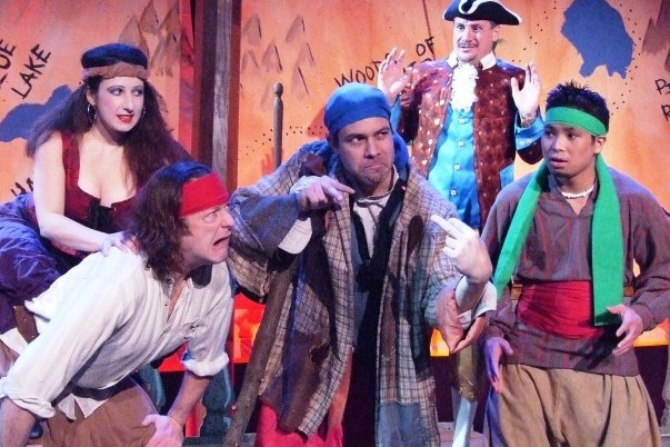 The ensemble of the A Kid's Forum production of  Treasure Island .