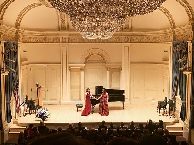 Last night was a dream come true! So grateful for the opportunity to make music with the lovely and talented @toniamiki on this beautiful stage! ❤️🎵