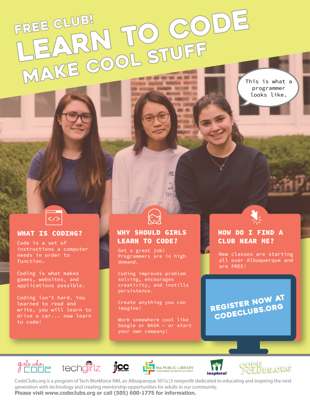 Girls Who Code Albuquerque Flyer