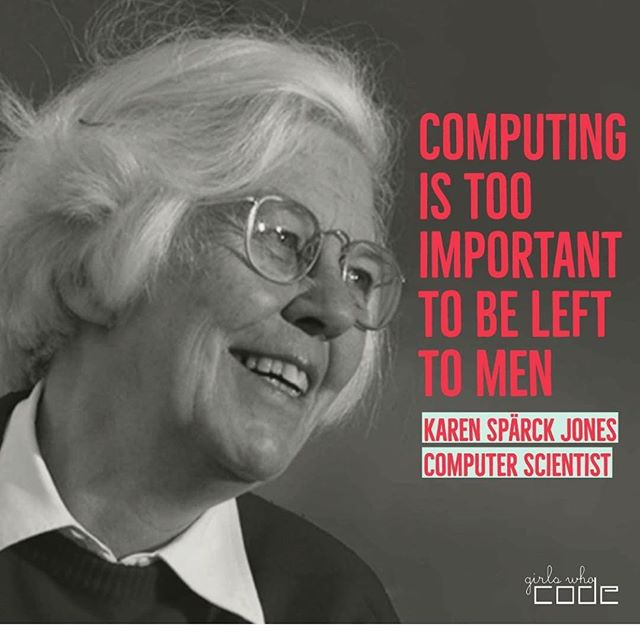 Karen Spärck Jones is a British computer scientist. She developed programming that taught computers to understand human language, which was the basis for today's search engine! Her ideas and code are being used in artificial intelligence research today. Image and text credit @girlswhocode . . . #505codclubs #stem #steminist #stemgirls #stemeducation #engineering #computerscience #computerscientist #womenintech #womenwhocode #girlswhocode #tech #technology #techie #abq #learntocode #steminist #stem #albuquerque #mathematician #bravenotperfect #coding #programming #girlscan #womenyoushouldknow #girlsintech #givegirlsrolemodels