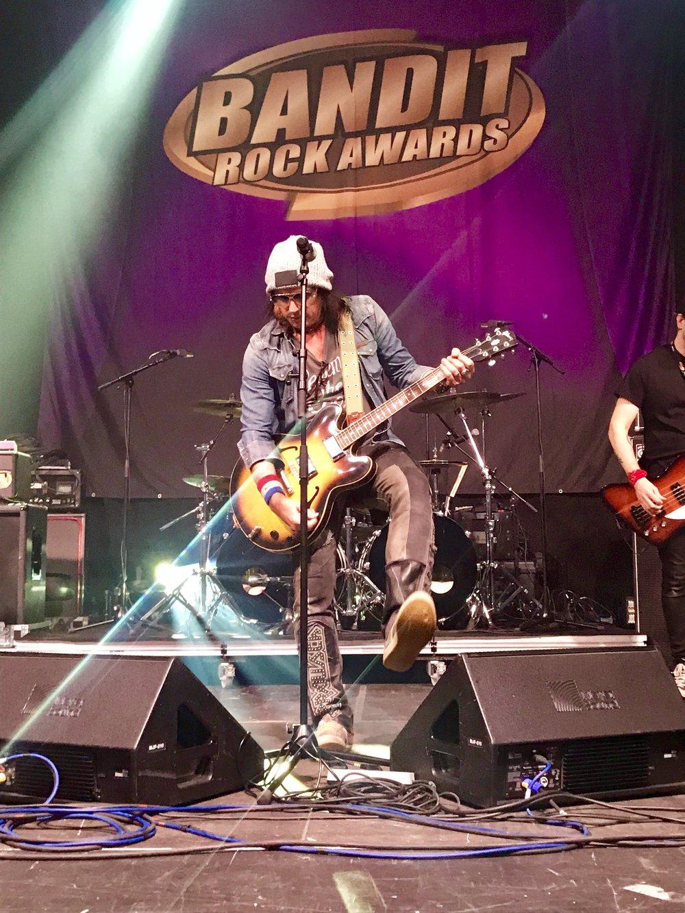 Ryan during soundcheck at the Bandit Rock Awards 2019
