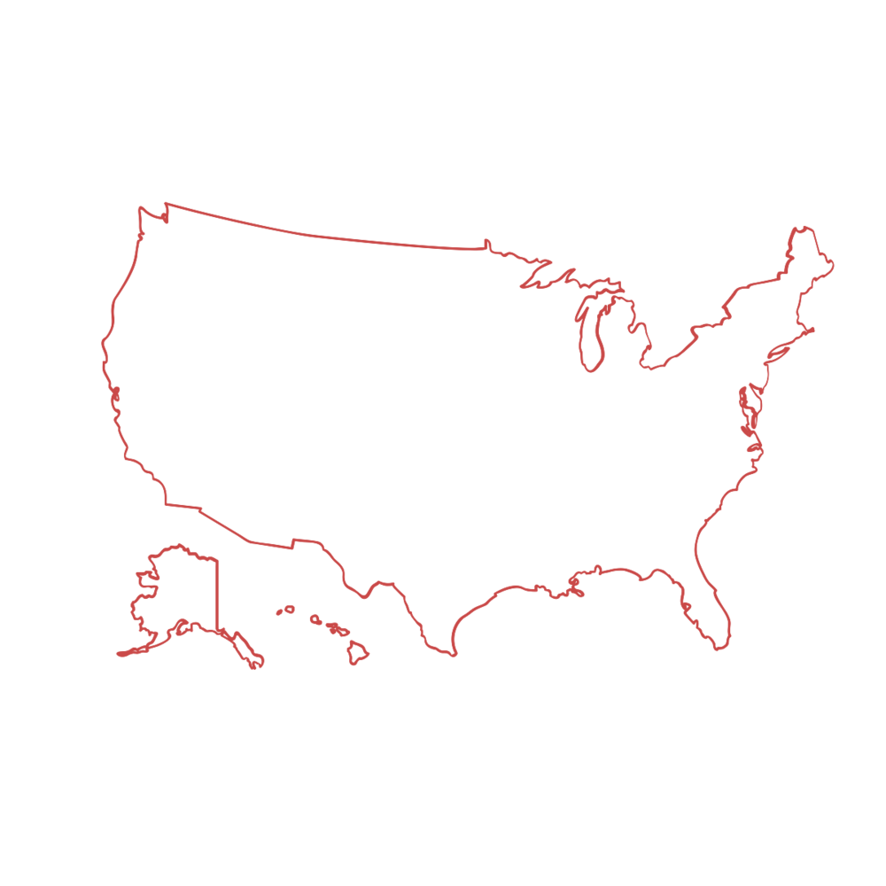Outline of the U.S. map