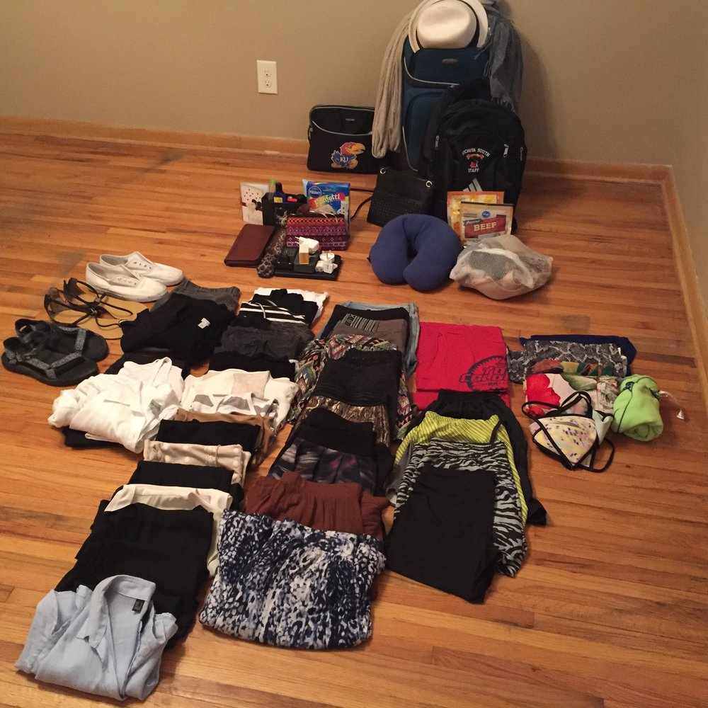 2 months of clothes in a carry-on and backpack. I rule.