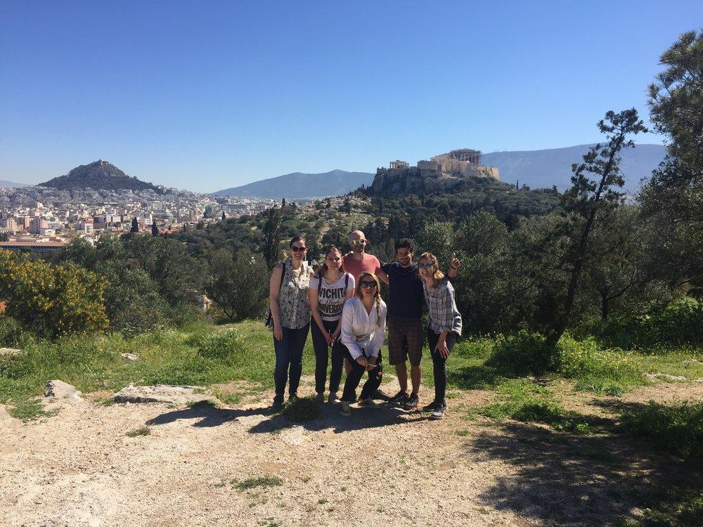 Athens bike tour group.
