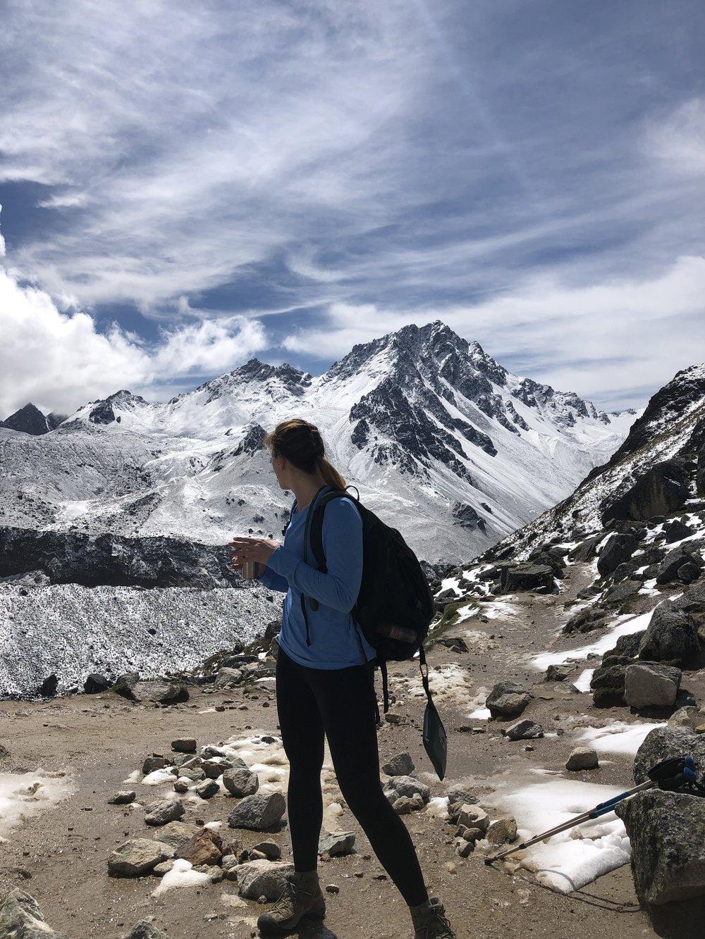 I did it! Salkantay Pass on day 2 of Salkantay Trek to Machu Picchu.