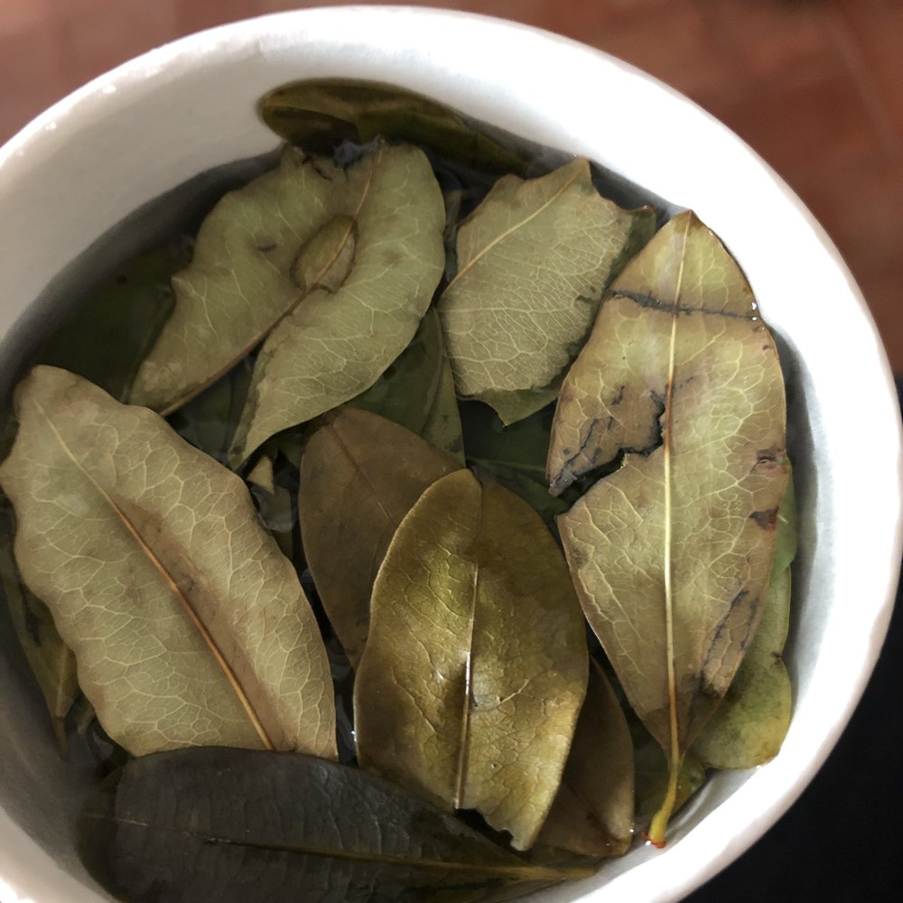 Coca tea in Cusco. Didn't do much for me.