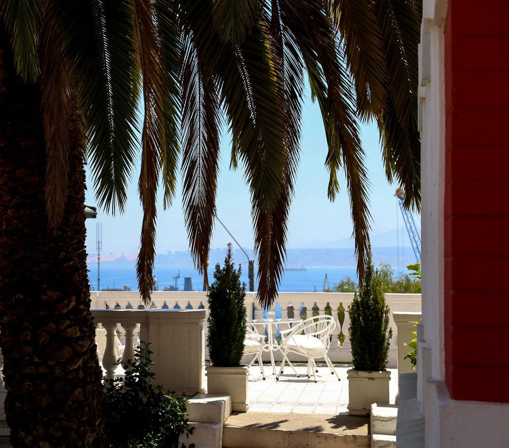 Views from Palacio Astoreca Hotel in Valparaíso, Chile.