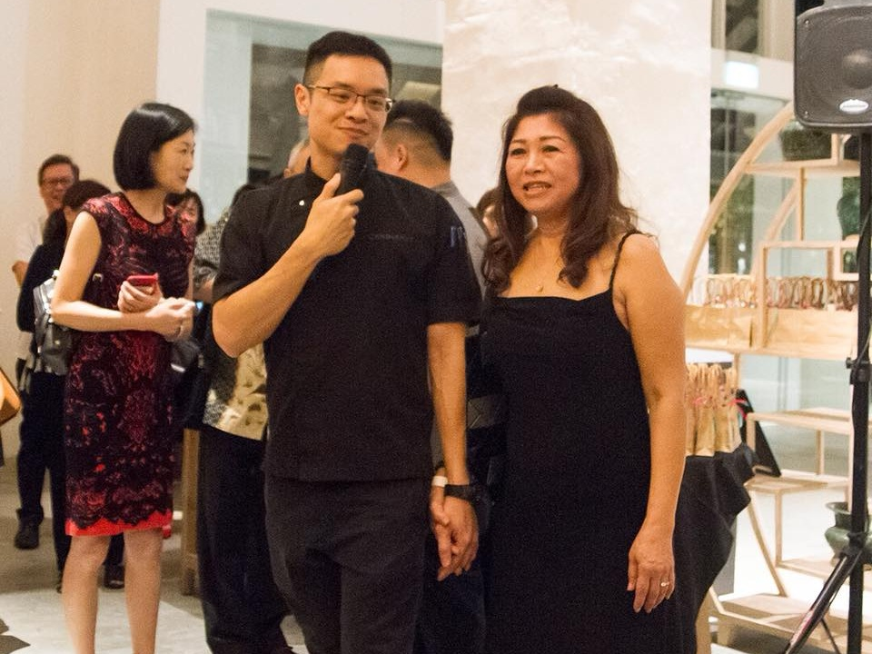 Chef Malcolm Lee with his mother, Mrs Lee