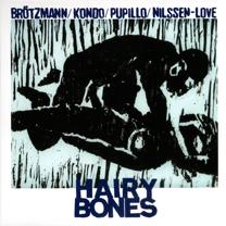 """2008 Brötzmann/Kondo/Pupillo/Nilssen-Love  """"Hairy Bones"""""""