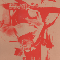 """2011 Paal Nilssen-Love/Lasse Marhaug   """"No Combo""""  one sided LP limited edition of 100 copies silk screen cover and art work on side B. recorded live in Fukuoka 2011"""