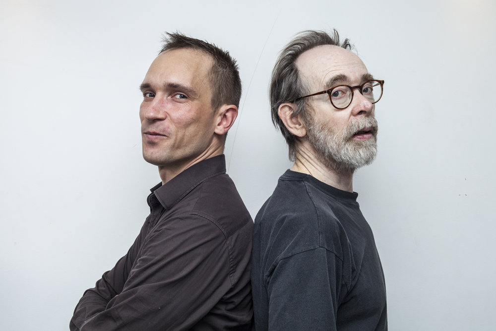 photo by Kim Hiorthøy   PAAL NILSSEN-LOVE : drums & percussion /  ARTO LINDSAY : electric guitar and vocals