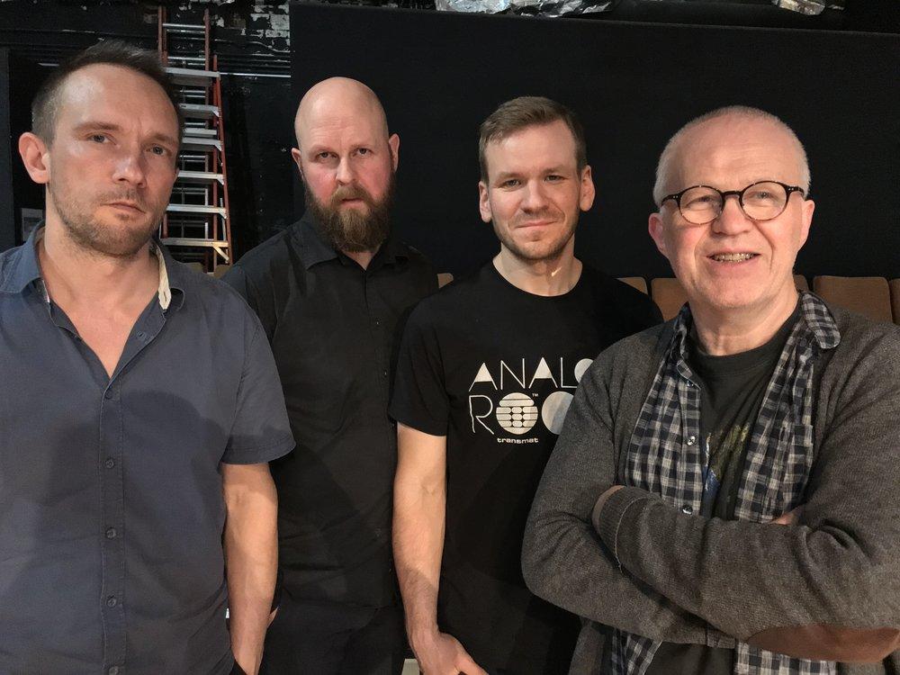 photo by David Zuchowski   Paal Nilssen-Love : drums /  Øyvind Storesund : double bass /  Jon Rune Strøm : double bass /  Frode Gjerstad : alto saxophone, alto flute and Bb-clarinet