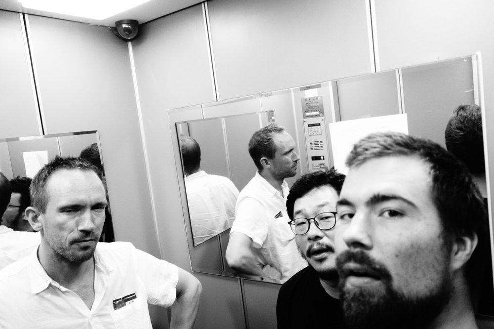 photo: Christian Meaas Svendsen   Paal Nilssen-Love : drums /  Yong Yandsen : tenor saxophone /  Christian Meaas Svendsen : double bass