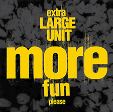 """EXTRA LARGE UNIT  Large Unit + Intuitive People from NMH  """"MORE FUN""""    PNL RECORDS  / CD / 2018"""