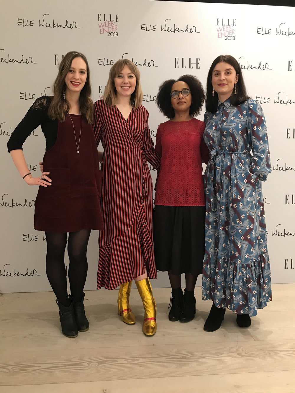 The Sunday Salon x ELLE Weekender, November 2018 - In late 2018, ELLE UK took over the Saatchi Gallery to host three days of inspiring talks, workshops and shopping. More than 4000 people attended - and on the final day I hosted a pop-up Sunday Salon on the main stage, with a panel of three brilliant authors, Jessie Burton, Diana Evans and Holly Bourne.