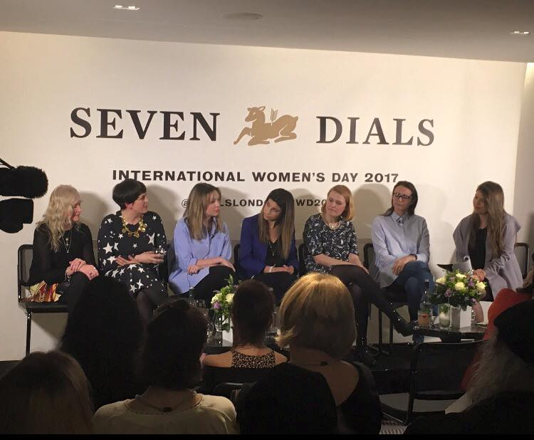 International Women's Day panel, March 2017 - On 8 March 2017, I joined Caroline Rush, Chief Executive of the British Fashion Council, Sarah Drinkwater, Head of Campus London at Google, About Time magazine's Angelica Malin, Rosie Wolfenden, co-founder of Tatty Devine, and Debbie Moore, founder of Pineapple Studios for a one-off panel themed around women and success.