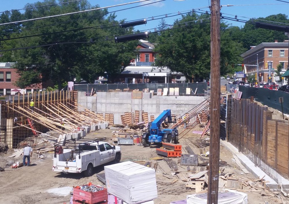 JULY 20, 2018 - Pouring the concrete for the walls.