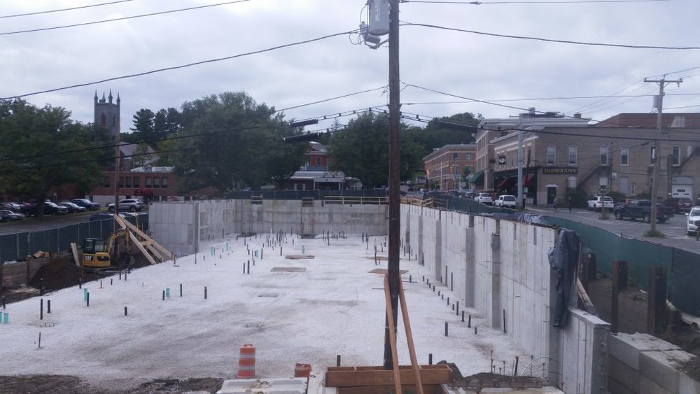 SEPT 21, 2018 - Preparing to lay the slab.