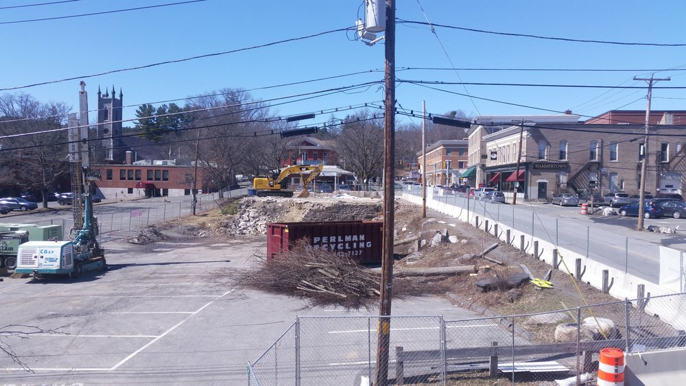 MARCH 31, 2018 - Clearing the lot.