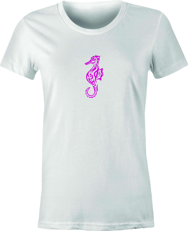 Sea Horse Tattoo Art Printed On T Shirt Custom Designed Printed T Shirts