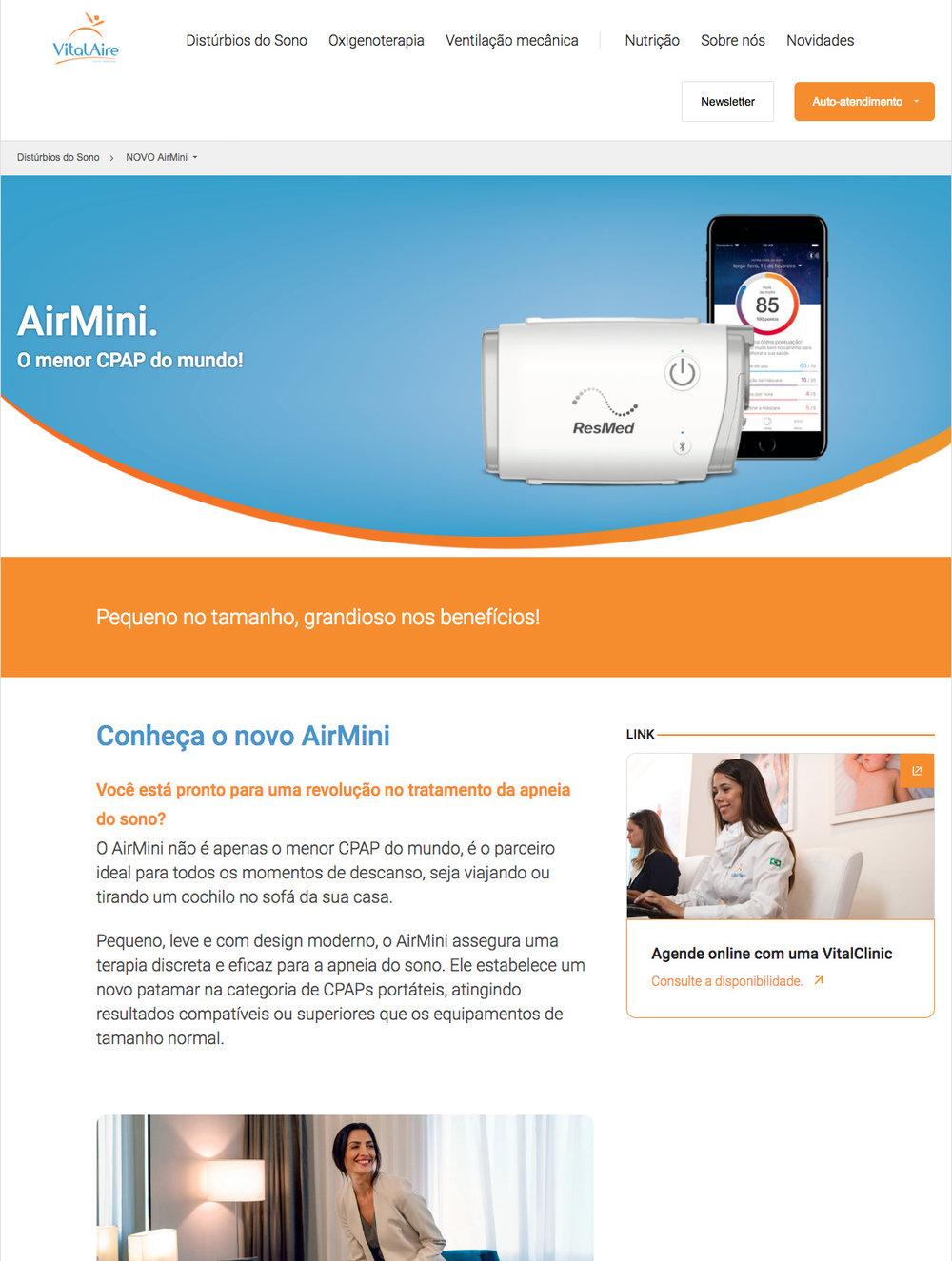 Web page do produto - Clique e veja online