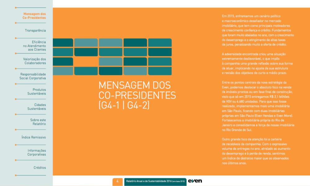Relatório anual em PDF navegável