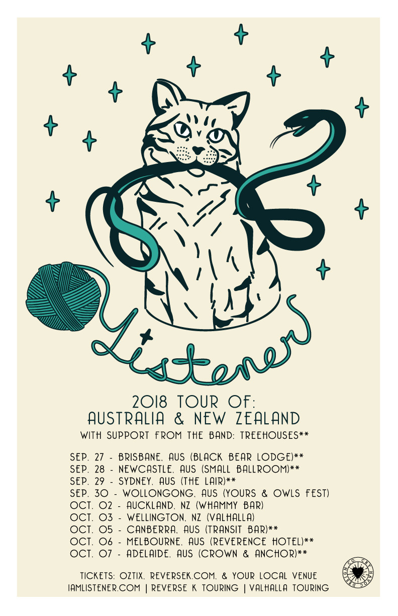 So…some of you have asked and asked and asked (you know who you are) for us to come play in Australia. And we have wanted to so badly, and it's finally happening. We can't believe we get to announce our first ever headlining tour in Australia and New Zealand this coming September and October. We have already announced the Yours & Owls fest, and that one is sold out. Here are the dates…tickets are available here:  Tickets: reversek.com/tickets reversek.oztix.com.au  Reverse K (Aus) reversek.com  Valhalla (NZ)  www.valhallatouring.com   THUR - 27/9 - BRISBANE (BLACK BEAR LODGE) FRI - 28/8 - NEWCASTLE (SMALL BALLROOM) SAT - 29/9 - SYDNEY (THE LAIR) SUN - 30/9 - WOLLONGONG (Y&O FESTIVAL) TUES - 2/10 - AUCKLAND (WHAMMY BAR) WED - 3/10 - WELLINGTON (VALHALLA) THU - 4/10 - SYDNEY (FRANKIES PIZZA)  FRI - 5/10 - CANBERRA (TRANSIT BAR) SAT - 6/10 - MELBOURNE (REVERENCE HOTEL) SUN - 7/10 - ADELAIDE (CROWN & ANCHOR) TUE - 9/10 - MELBOURNE (OLD BAR)   See you so soon!
