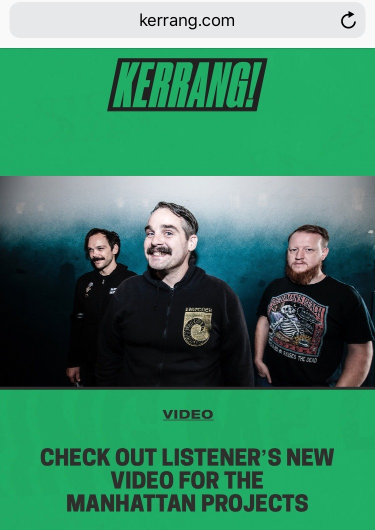 "New Video premiere for the song  ""Manhattan Projects"" on Kerrang today !"