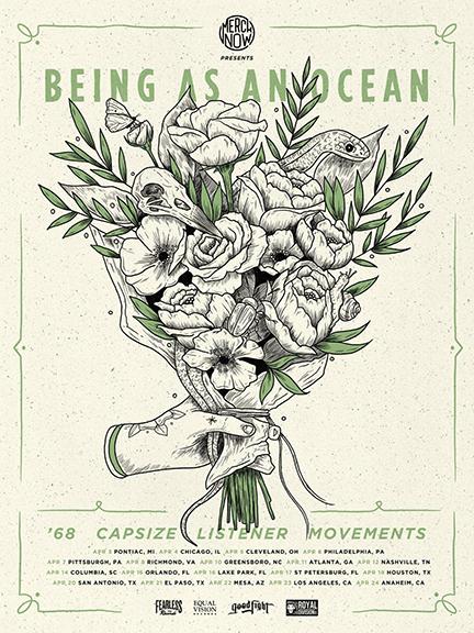2016 US LISTENER TOUR WITH BEING AS AN OCEAN, '68, CAPSIZE, AND MOVEMENTS.  April 03, 2016 - Pontiac, MI (The Pike Room) April 04, 2016 - Chicago, IL (Beat Kitchen) April 05, 2016 - Lakewood, OH (Mahall's) April 06, 2016 - Philadelphia, PA (The Voltage Lounge) April 07, 2016 - Pittsburgh, PA (The Altar Bar) April 08, 2016 - Richmond, VA (Canal Club) April 10, 2016 - Greensboro, NC (Arizona Petes) April 11, 2016 - Atlanta, GA (The Masquerade) April 12, 2016 - Nashville, TN (Rocketown) April 14, 2016 - Columbia, SC (New Brookland Tavern) April 15, 2016 - Orlando, FL (Backbooth) April 16, 2016 - Lake Park, FL (Kelsey Theater) April 17, 2016 - St Petersburg, FL (Local 662) April 19, 2016 - Houston, TX (Warehouse Live) April 20, 2016 - San Antonio, TX (The Korova) April 22, 2016 - Mesa, AZ (The Underground) April 23, 2016 - Van Nuys, CA (White Oak Music Hall) April 24, 2016 - Anaheim, CA (Chain Reaction)