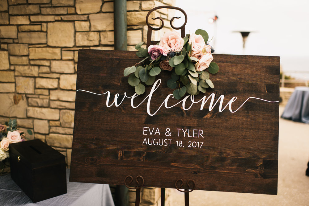eva and tyler wedding with cluster events ceremony sign.jpg