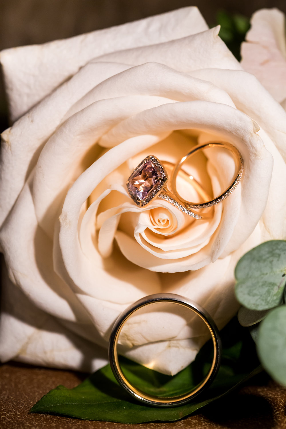brittany and david wedding with cluster events rings.JPG