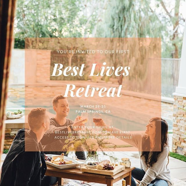 Hey remember our first #bestlivesretreat almost exactly a year ago? Well, we're excited to announce that we're not just planning our next one together, but we're inviting you to come along with us 😄💎🕺🏻 If you want to be a part of this magical, soul-filling, best-life-championing experience, then we would love to take you on that journey. ✨ If you want first access to sign-ups (spots are limited for this retreat), and retreat details before anyone else, head to bestlivesretreat.com to enter your e-mail address and get on the list (signing up isn't securing a spot, just showing interest 😉), and you'll be receiving follow-up details shortly. ✨ We can't wait to start bringing this experience to other people, and to see who is led to join our first open-to-the-public retreat. Excited for you to dive even deeper into your best life, and currently off to re-stock my face mask collection in preparation. Yay!