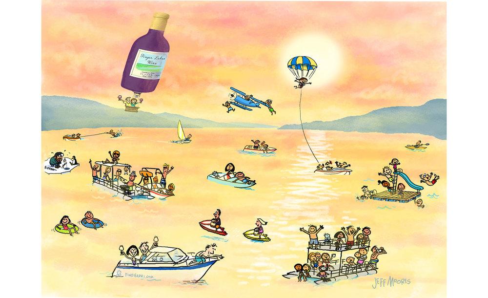 boats watercolor