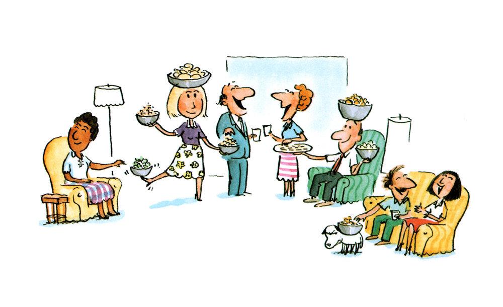 Entertaining illustration