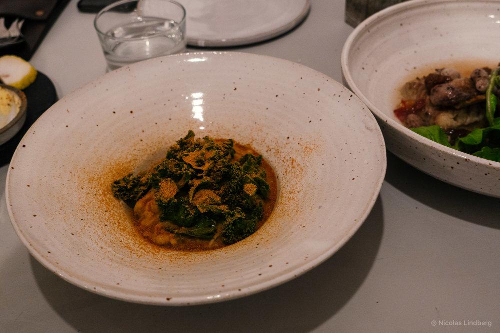 Enoki Cacio e Kimchi 17.50€   Parmesan. Kimchi powder