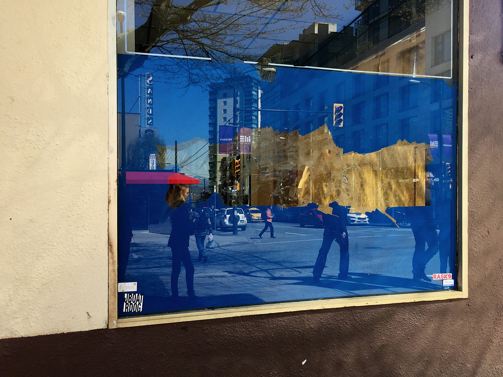 Mirrored reflections from shop window, Vancouver © Tanya Clarke 2017