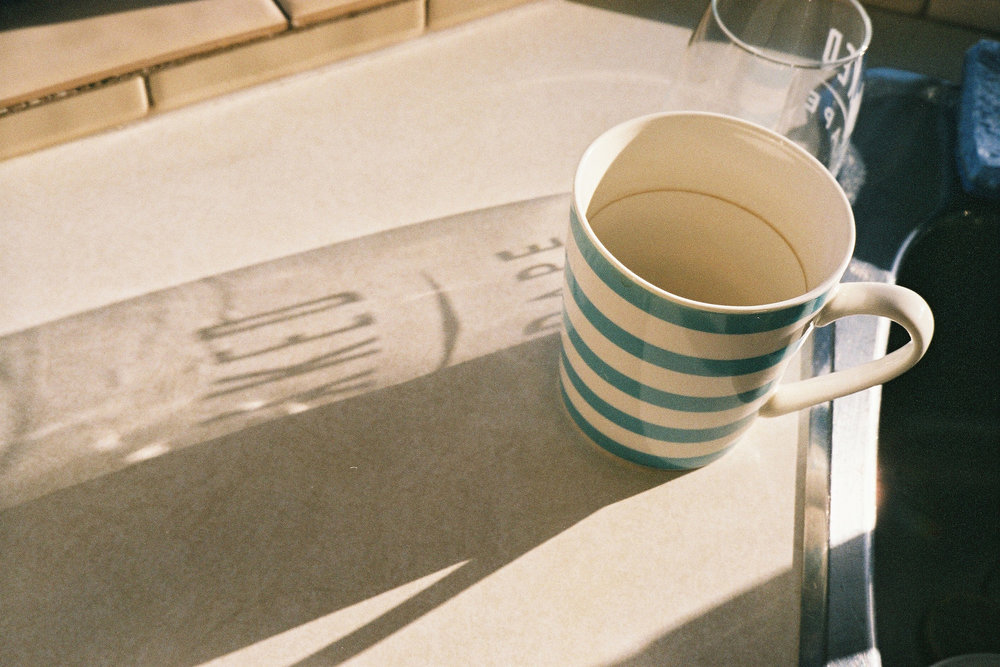 Cup, glass, shadow, North Vancouver © Tanya Clarke 2018
